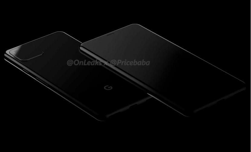 Billeder lækket af det der måske er den kommende Google Pixel 4 (Kilde: @OnLeaks og Pricebaba)