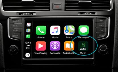 YouSee Musik med Apple CarPlay (Foto: YouSee)