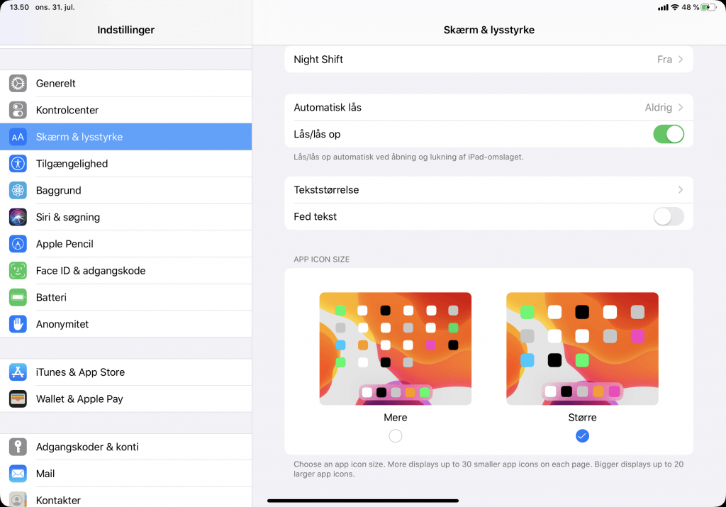 Mulighed for at zoome i iPadOS 13 (Foto: MereMobil.dk)