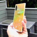 Samsung Galaxy Note10+ i farven Aura Glow