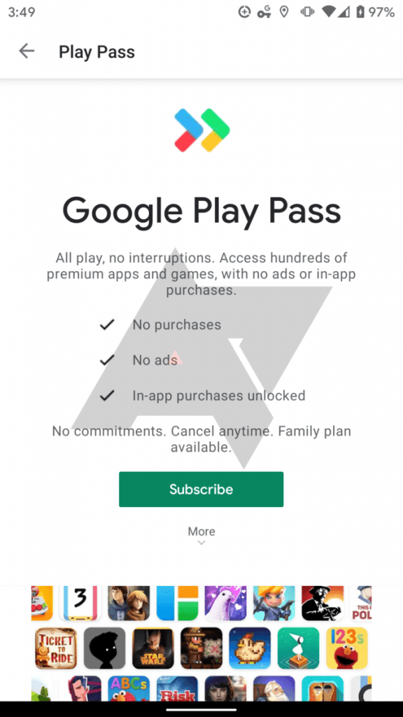 Google Play Pass (Foto: AndroidPolice)