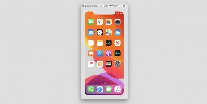 Filen HoldForRelease spottet i beta 7 af iOS 13 med datoen 10. september 2019 (Kilde: GSMArena.com)
