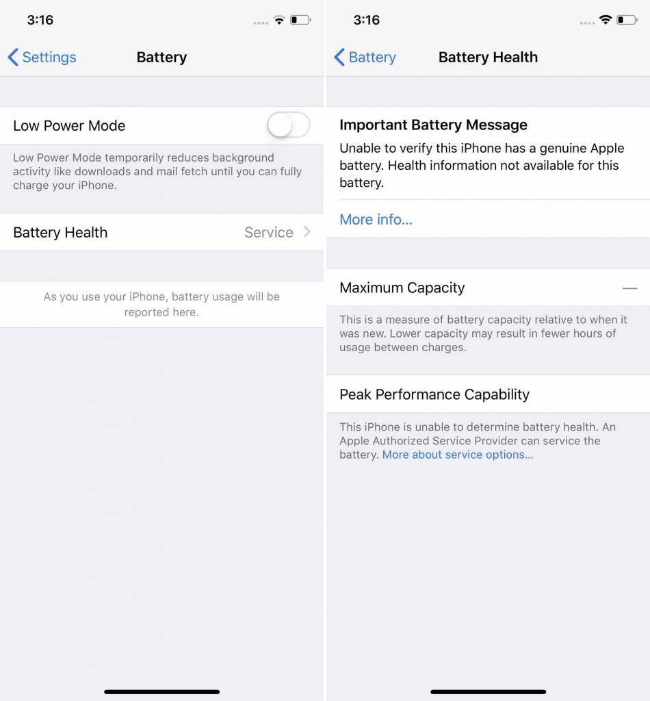 Servicemeddelelsen på iPhone (Foto: iFixit)