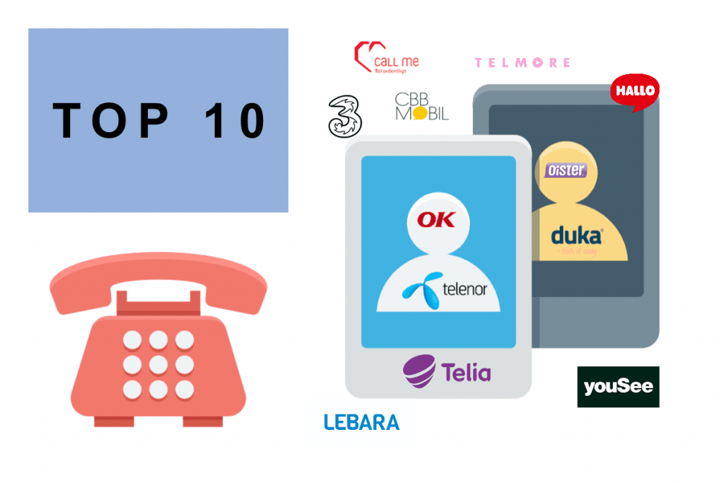 Top-10 mobilabonnementer