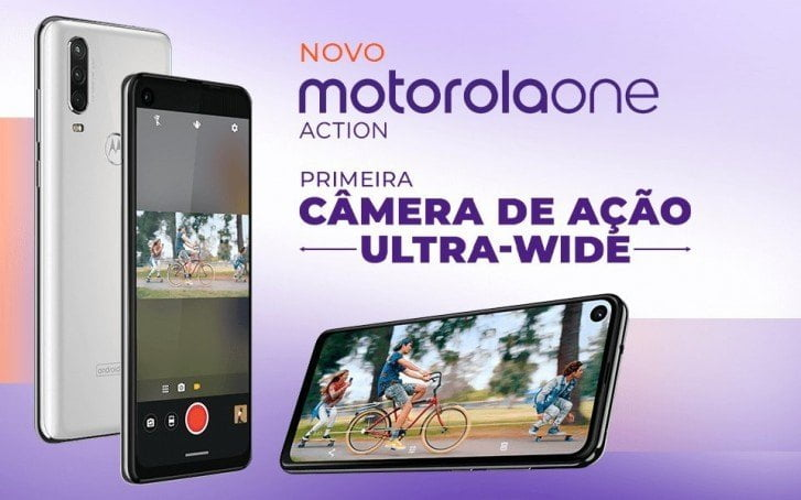 Portugisisk promotion-materiale for Motorola One Action (Kilde: GSMArena.com)