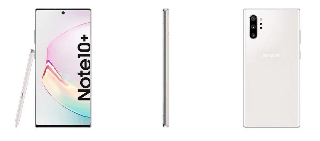 Samsung Galaxy Note 10+ i Aura White (Kilde: Ishan Agarwal)