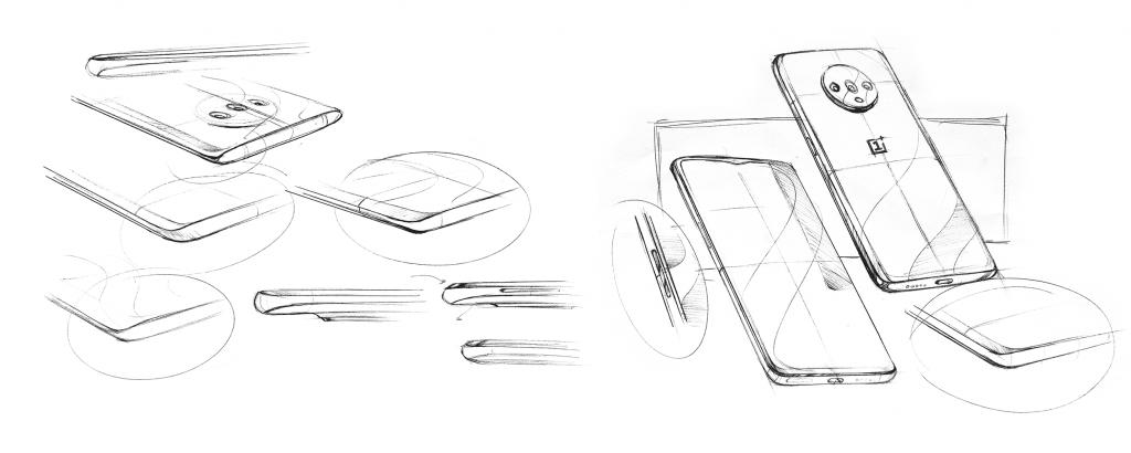 Tegninger af OnePlus 7T afsløret af Pete Lau, OnePlus (Foto: OnePlus)