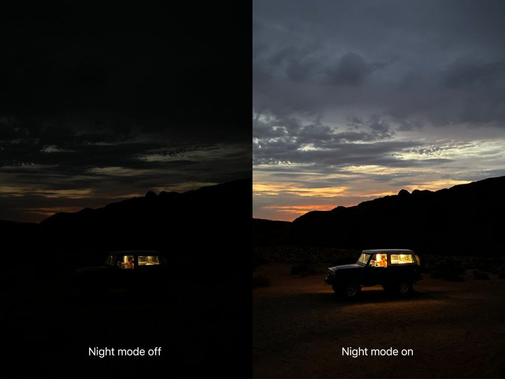 Uden og med Night-mode på iPhone 11