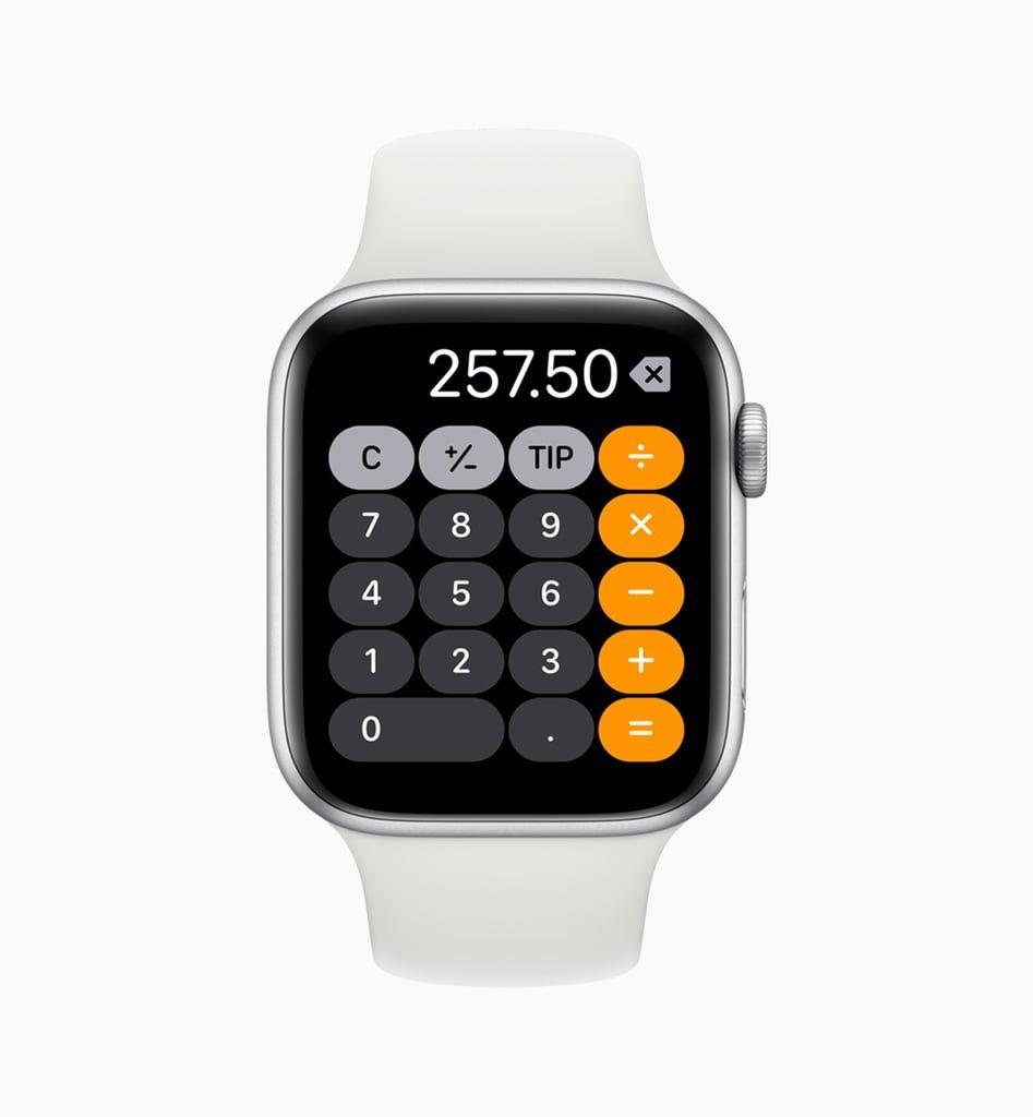Lommeregner i watchOS 6 (Foto: Apple)