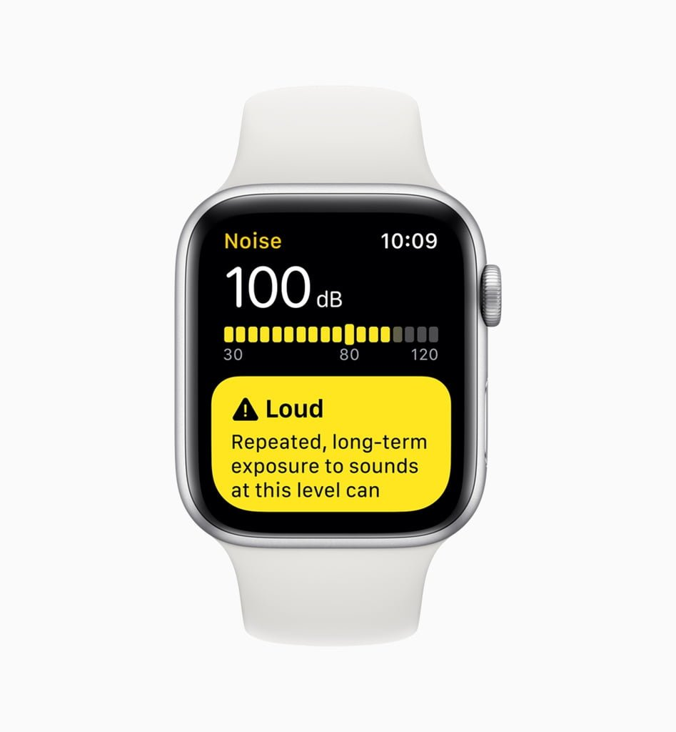 Støjniveau i watchOS 6 (Foto: Apple)