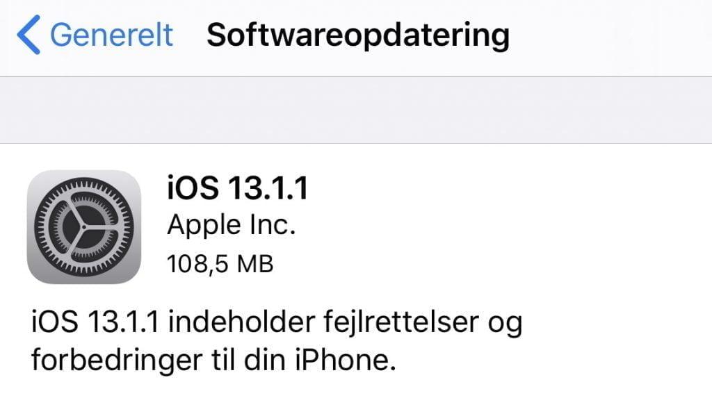 iOS 13.1.1.