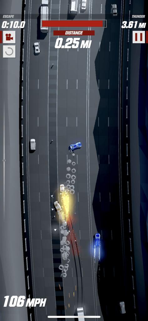 Flygt fra politiet i Speed Demons (Foto: MereMobil)