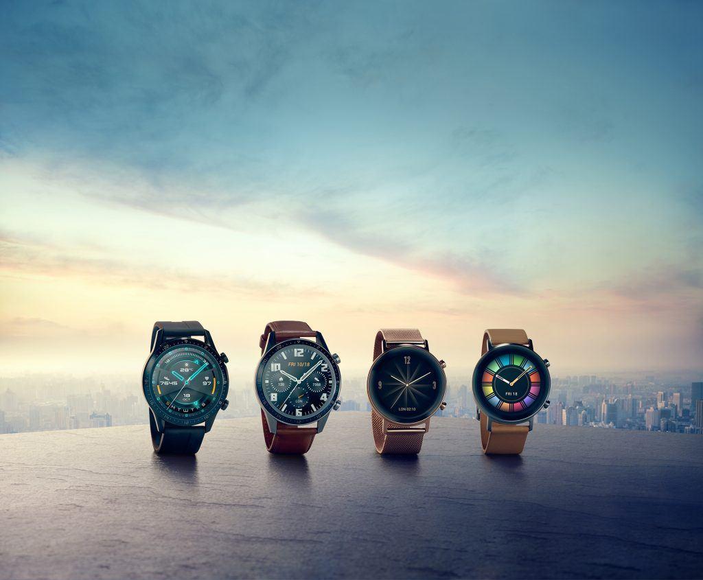 Huawei Watch GT 2 de fire forskellige varianter (Foto: Huawei)