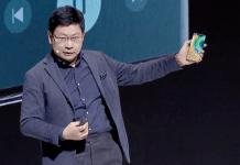 Richard Yu, mobilchef med Mate 30 Pro
