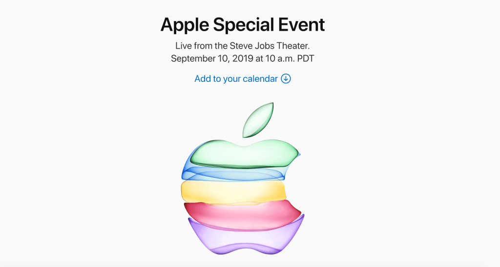 Apple iPhone event tirsdag den 10. september 2019