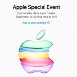 Apple iPhone event tirsdag den 10. september 2019