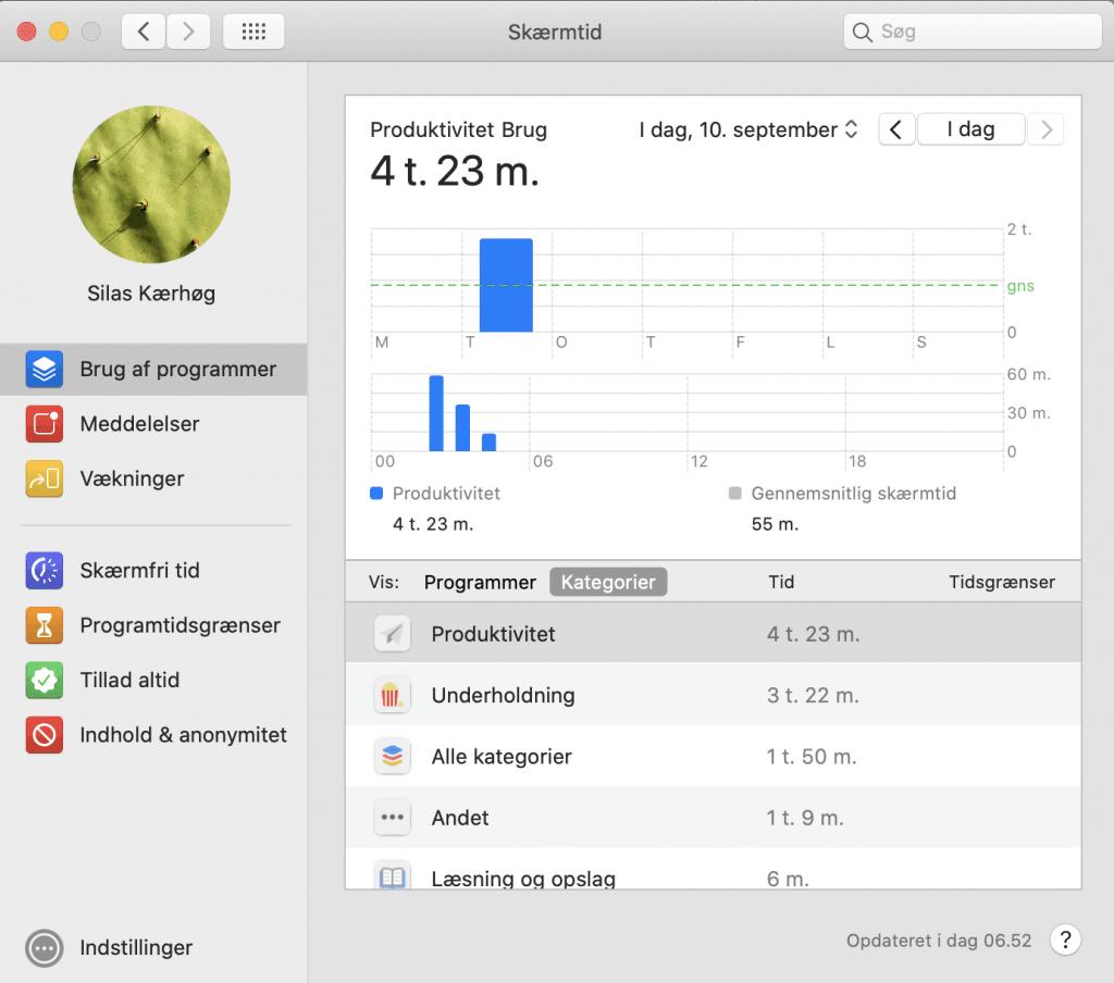 Skærmtid på Mac (Foto: MereMobil)