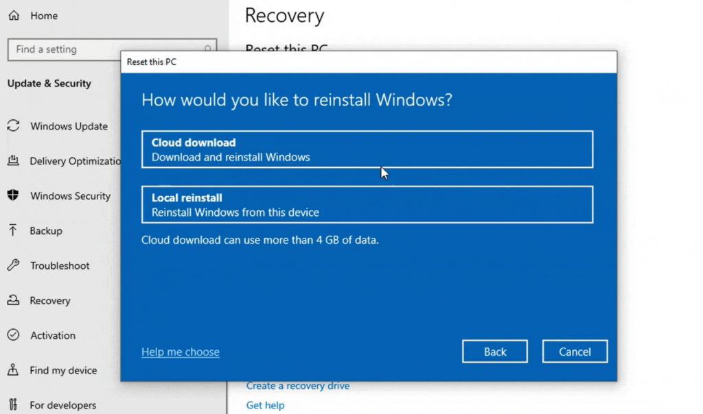 Windows 10 cloud-install