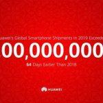 Huawei har nået kæmpe milepæl på 200 millioner solgte smartphones i 2019 (Kilde: Huawei Twitter)