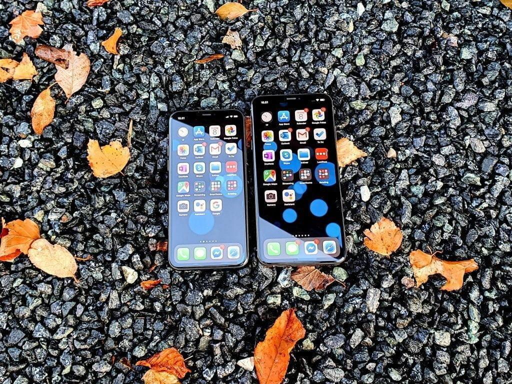iPhone 11 Pro og iPhone Xs Max