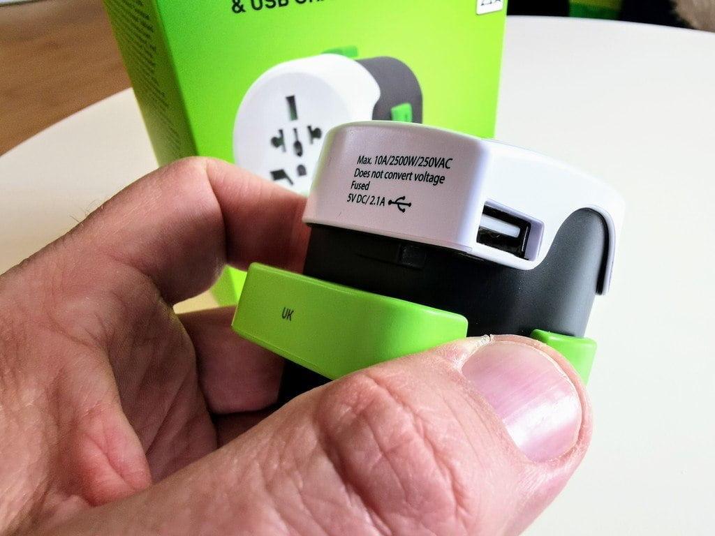 Qdapter, USB-udgang
