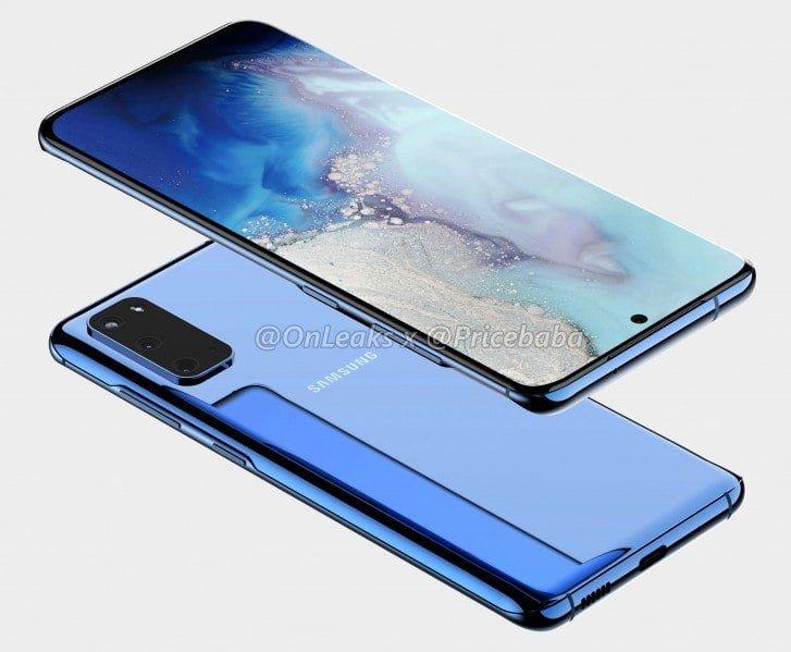 CAD-billeder af det, som måske er den kommende Samsung Galaxy S11e (Foto: @OnLeaks)