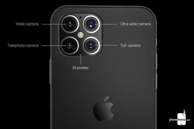 Konceptbilleder af iPhone 12 (Kilde: PhoneArena.com)