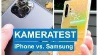 Kameraerne på iPhone 11 Pro og 11 Pro Max er rigtigt gode, men slår Apple ærkerivalen Samsung? Læs duellen iPhone 11 Pro Max vs. Samsung Galaxy Note10+ her.