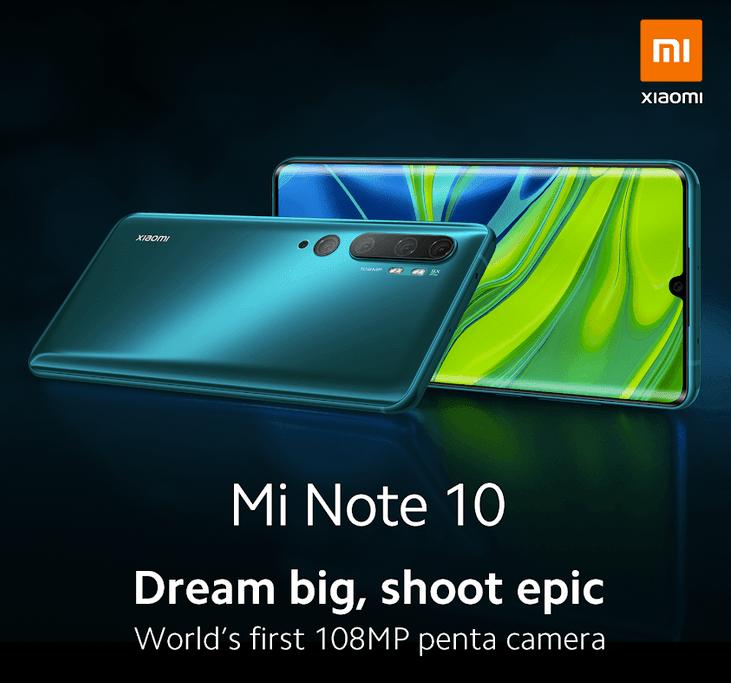 Xiaomi Mi Note 10 (Foto: Xiaomi)