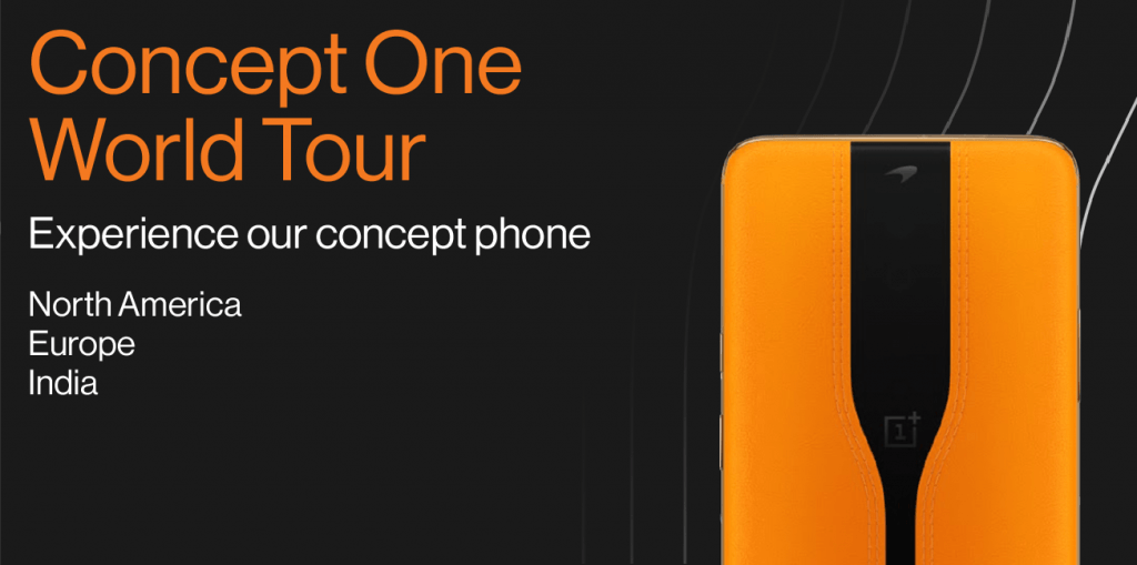 OnePlus Concept One World Tour (Kilde: OnePlus)