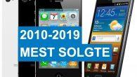 TOP-10: Her kan du se hvilke smartphones danskerne var mest vilde med i sidste årti (2010-2019).
