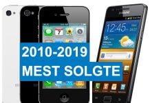 2010-2019 mest solgte