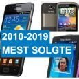 2010-2019 mest solgte Android