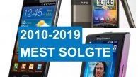 TOP-10: Samsung dominerer hitlisten over de mest solgte Android-telefoner de seneste 10 år – men på top-10 findes også overraskelser.