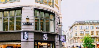 3's butik på Strøget, København