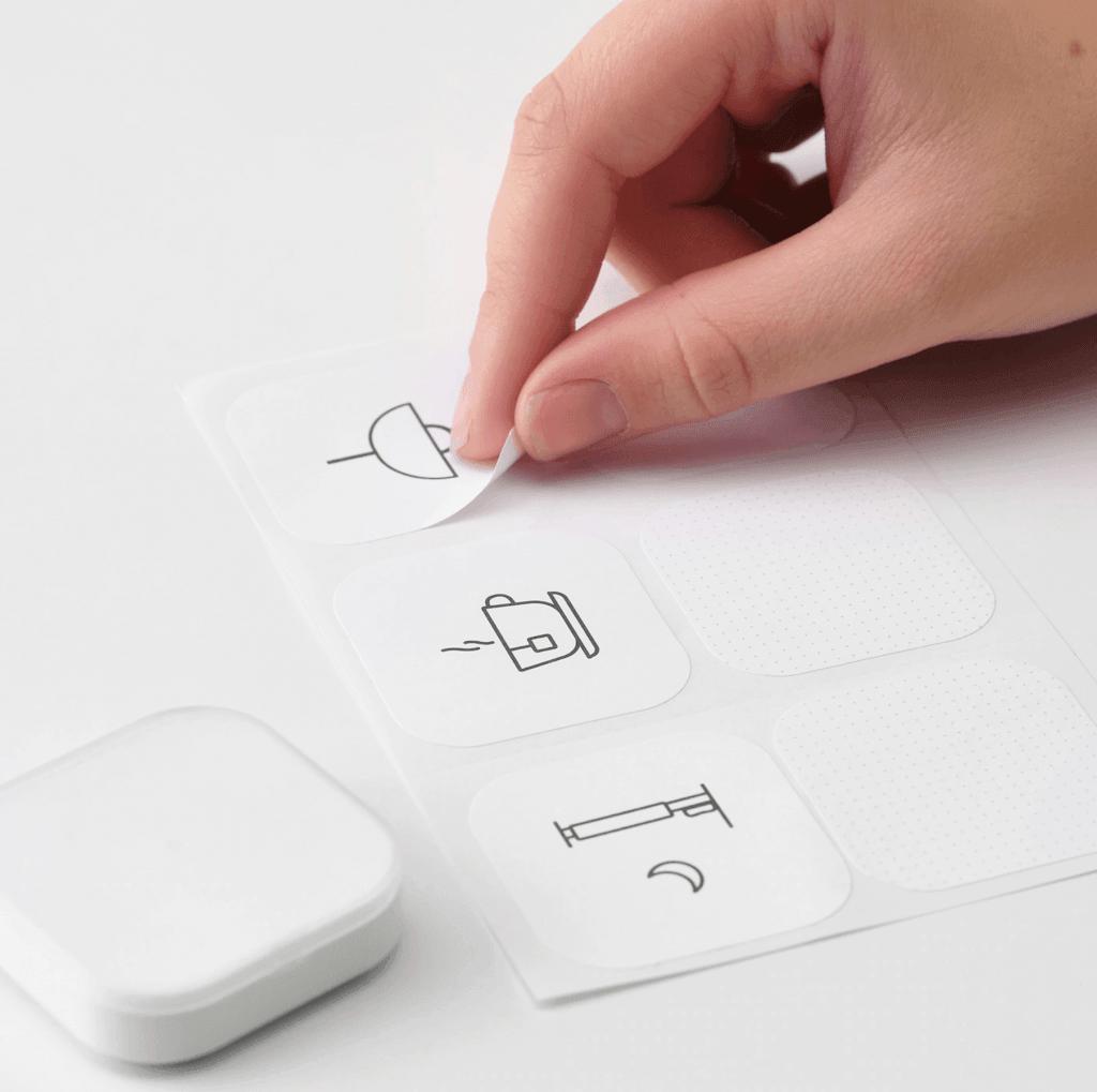 Klistermærker til Ikea Trådfri genvejskontakt