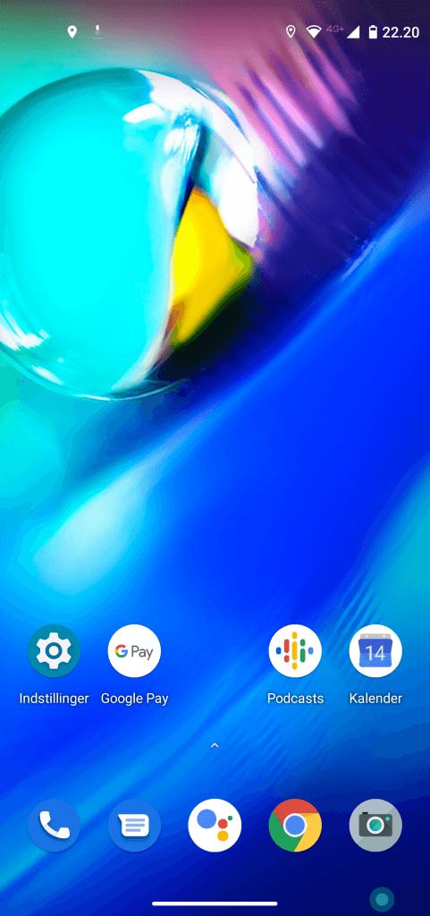 Skærmbillede fra Motorola Moto G8 Power