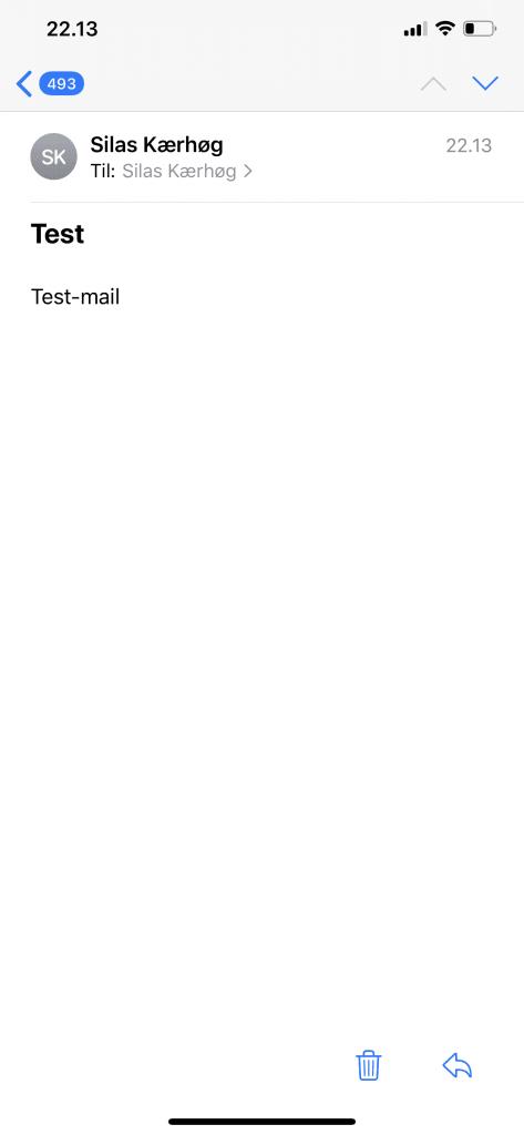 iOS 13.3.1 Mail-applikationen (Foto: MereMobil.dk)