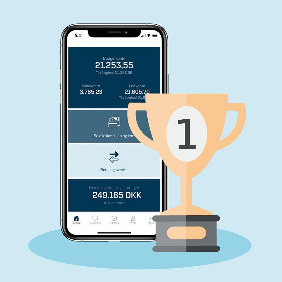 Danske Banks nye mobilbank er stemt ind på førstepladsen i Voxmeter (Foto: Danske Bank)