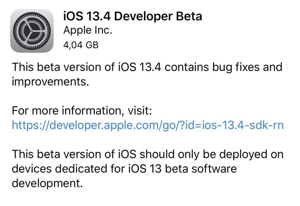 iOS 13.4 Beta (Foto: MereMobil.dk)