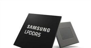 Samsung LPDDR5 RAM (Foto: Samsung)