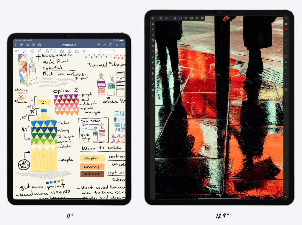 iPad Pro 2020 størrelser