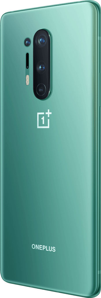 OnePlus 8 Pro i farven glacial green