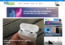 Design på desktopversionen af MereMobil.dk 2020