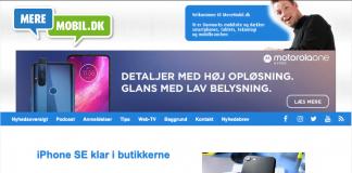 Sådan kender du forsiden fra MereMobil.dk (Foto: MereMobil.dk)