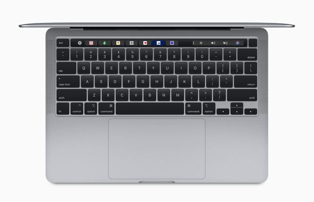 "Tastaturet på MacBook Pro 13"" (2020) har Touch B"