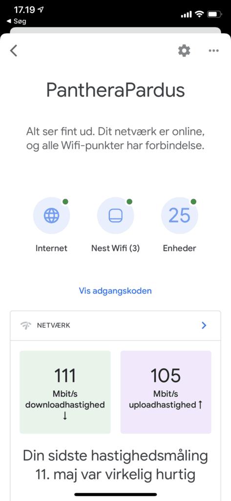 Nest Wifi i Google Home