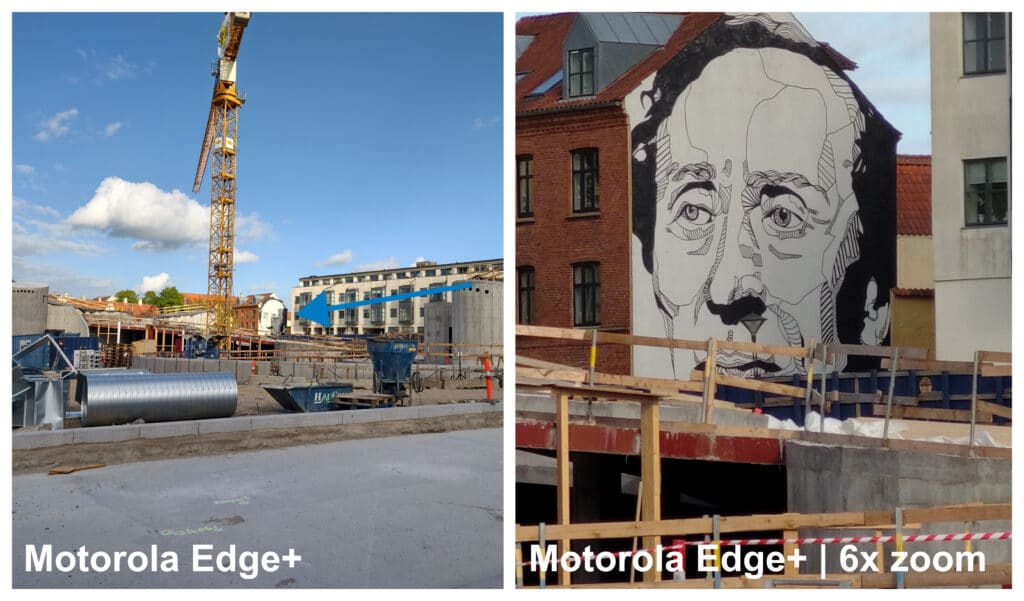 Moto Edge+ fotodemo 6x zoom
