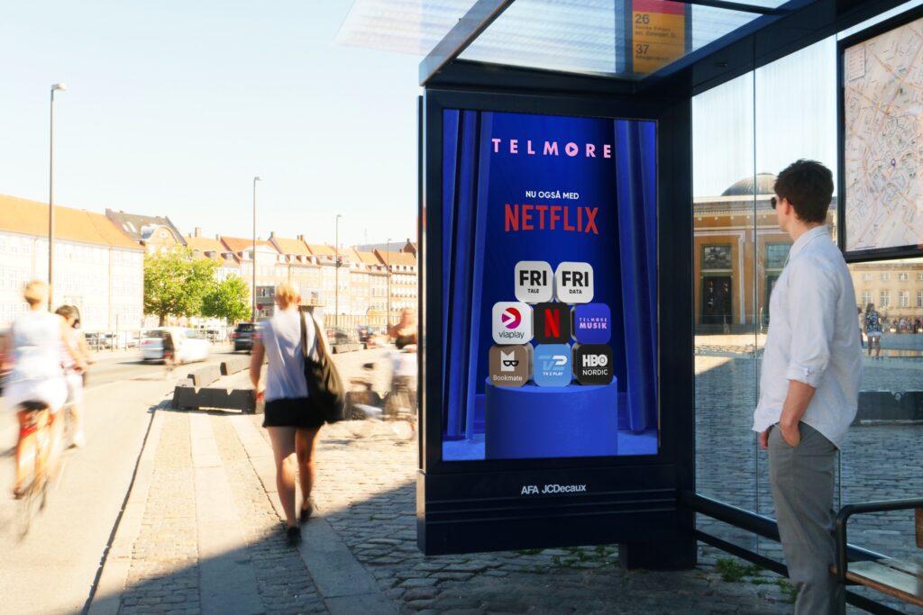 Telmore outdoor Netflix-reklame