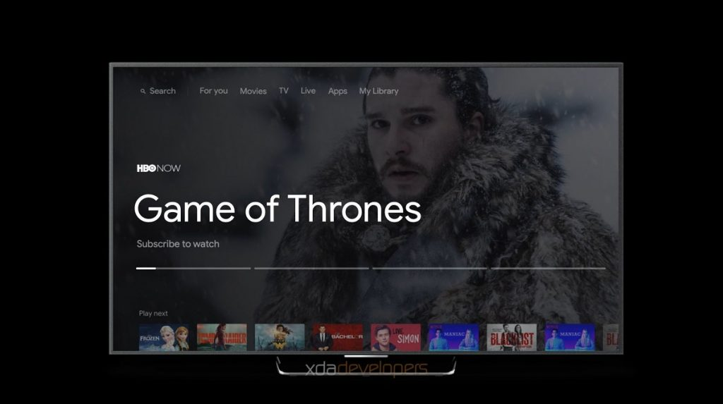 Android TV brugerflade